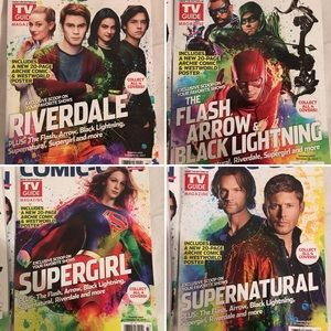 Tv Guide lot of 4 CW Superheroes SDCC edition